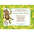 Monkeyin' Around Baby Shower Personalized Invitation