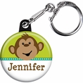 Monkeyin' Around Baby Shower Personalized Key Chain