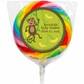 Monkeyin' Around Baby Shower Personalized Lollipops