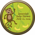 Monkeyin' Around Baby Shower Personalized Magnet