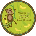 Monkeyin' Around Baby Shower Custom Stickers