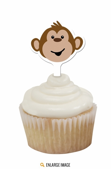 Monkeyin Around Cupcake Toppers Set of 12