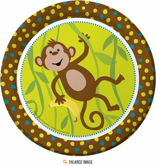 "Monkeyin Around 9"" Dinner Plates"