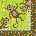 Monkeyin' Around Lunch Napkins - Plain