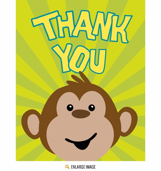 Monkeyin Around Thank You Cards