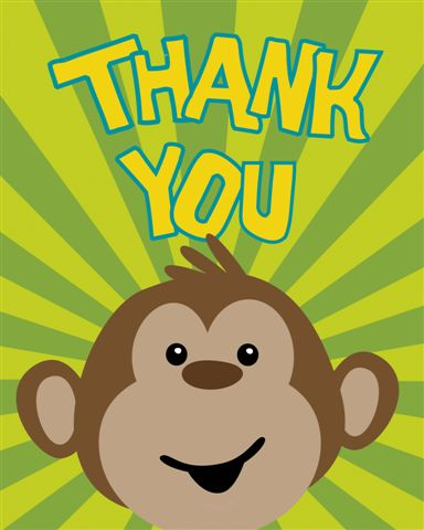 Monkeyin' Around Thank You Cards