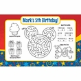 Mouse Custom Birthday Activity Placemats