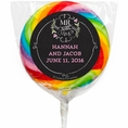 Mr & Mrs Chalk Custom Wedding Lollipops