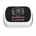 Mr & Mrs Chalk Custom Wedding Mint Tins