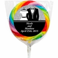Newlywed Wedding Personalized Lollipops