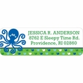 Ocean Preppy Blue Whale Baby Shower Custom Address Labels