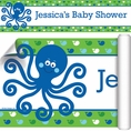 Ocean Preppy Blue Whale Baby Shower Custom Banner