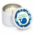 Ocean Preppy Blue Whale Baby Shower Custom Candles