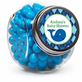 Ocean Preppy Blue Whale Baby Shower Custom Candy Jars