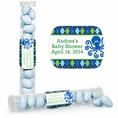 Ocean Preppy Blue Whale Baby Shower Custom Candy Tubes