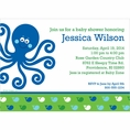 Ocean Preppy Blue Whale Baby Shower Custom Invitation