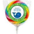Ocean Preppy Blue Whale Baby Shower Custom Lollipops