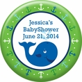 Ocean Preppy Blue Whale Baby Shower Custom Magnet