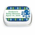 Ocean Preppy Blue Whale Baby Shower Custom Mint Tins