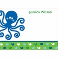 Ocean Preppy Blue Whale Baby Shower Custom Thank You Note