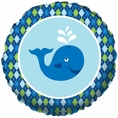 Ocean Preppy Boy Foil Balloon Plain