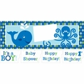 Ocean Preppy Boy Giant Party Banner