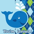Ocean Preppy Boy Invitations