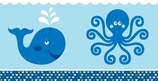 Ocean Preppy Boy Party Decorative Tablecover