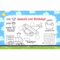 On The Go Custom Birthday Party Activity Placemats