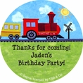 On The Go Custom Birthday Party Stickers Large