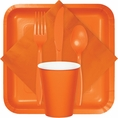 Sunkissed Orange Party Tableware
