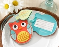 """Owl Be Seeing You"" Cute Owl Luggage Tag Favors"