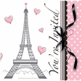 Paris Party Invitations