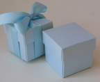 "Pastel Blue 2"" Square Box & Ribbon"