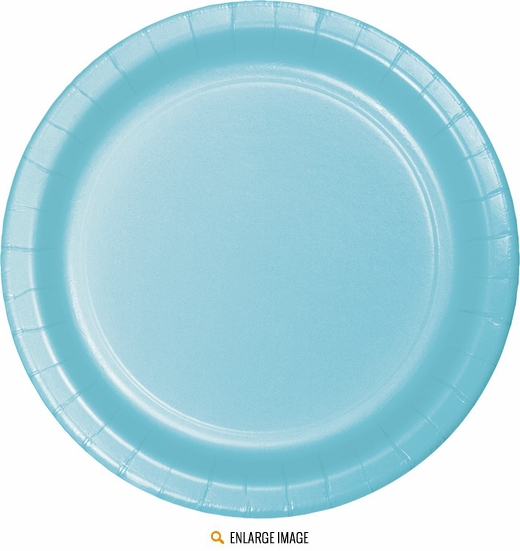 "Pastel Blue 7"" Plates - 24 ct are sold 24 per package."