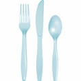 Pastel Blue Assorted Plastic Cutlery 24 Count