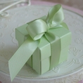 "Pastel Mint 2"" Square Box & Ribbon"