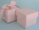 "Pastel Pink 2"" Square Box & Ribbon"