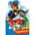 Paw Patrol Thank You Notes