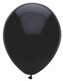 Pitch Black Latex Balloons - 15 ct