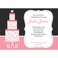 Pink Elegance Bridal Shower Custom Invitation