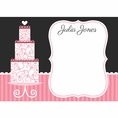 Pink Elegance Bridal Shower Custom Thank You Note