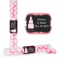 Pink Elegance Custom Wedding Candy Tubes