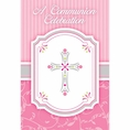 Pink First Communion Invitations