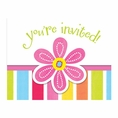 Pink Flower Cheer Invitations