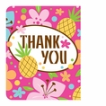 Pink Luau Fun Thank You Cards