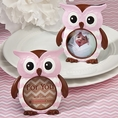Pink Owl Design Picture Frame Favors
