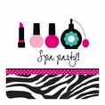 Pink Zebra Boutique Spa Party Luncheon Napkins