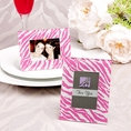 Pink Zebra Pattern Picture Frame Favor