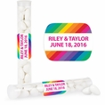 Rainbow Wedding Custom Candy Tubes